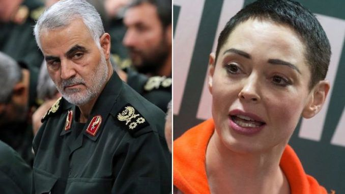 Rose McGowan apologizes to Iran over death of Soleimani