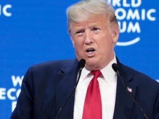 President Donald Trump tells elites at Davos that America is winning like never before