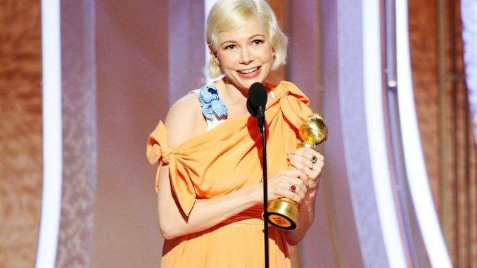 Actress Michelle Williams credits her abortion for Golden Globe win