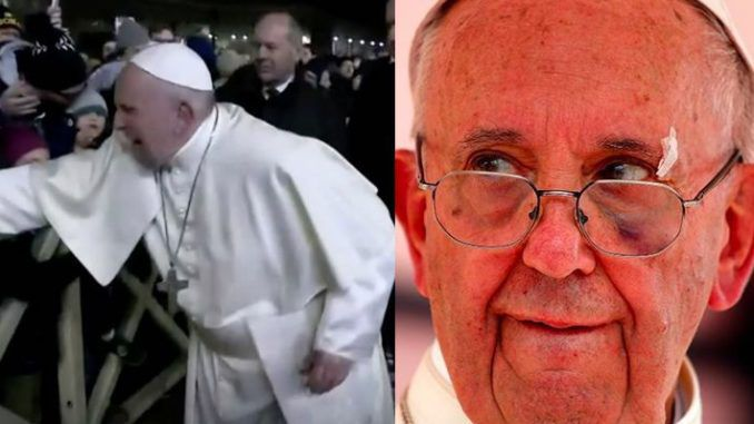 Video emerges of Pope Francis slapping another helpless woman