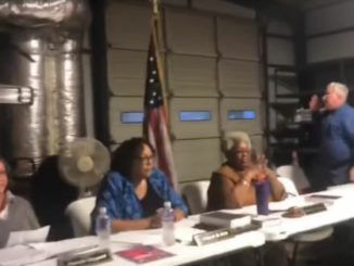 A North Carolina board of elections chairwoman refused to stand for the flag and threatened to call the police if anyone were to attempt to recite the Pledge of Allegiance at a board meeting in the future.