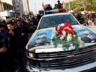Iranian terrorist mastermind Qassim Soleimani was killed with an American-made drone and his coffin was carried into Tehran in an iconic American-made car.
