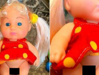 A transgender children's doll complete with a dress and male genitalia — believed to be the world's first doll of its kind — has been spotted for sale in a toy shop.