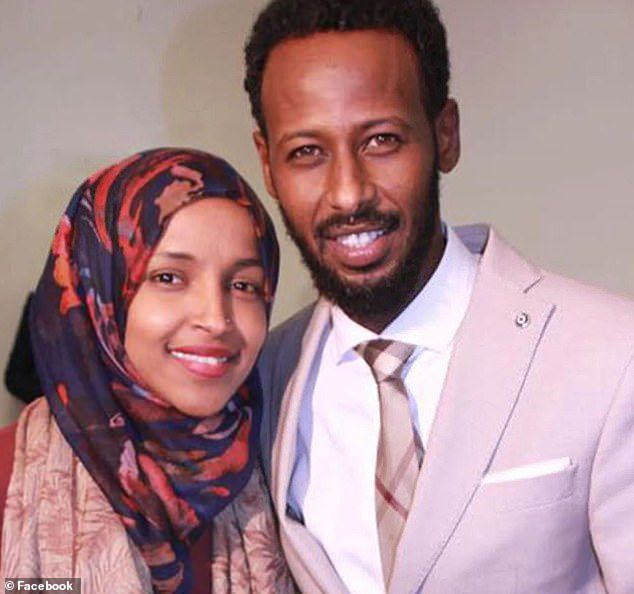 Rep. Ilhan Omar with her first husband, Ahmed Hirsi