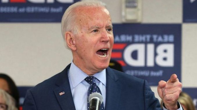 """Former Vice President Joe Biden says he will not be """"satisfied"""" until at least half of the U.S. Supreme Court justices are women who believe the US Constitution is a """"living, breathing document."""""""