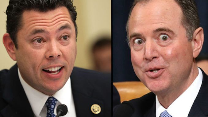 "House Intelligence Committee Chairman Rep. Adam Schiff must be stripped of his security clearance because he proven himself to be a ""liar"" who is an ""embarrassment"" to the United States of America, according to Jason Chaffetz."