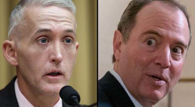 """House Intelligence Committee Chairman Rep. Adam Schiff must be excluded from intelligence briefings because he has proven himself to be an """"epidemic leaker"""" of classified information and a danger to the United States, according to Trey Gowdy."""