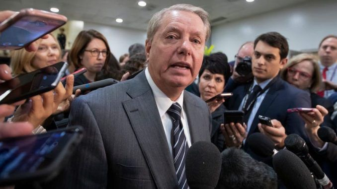 "Deep State actors responsible for the Russian collusion investigation are ""gonna go to jail,"" Sen. Lindsay Graham warned Sunday during an interview with Judge Jeanine Pirro on Fox News Channel."
