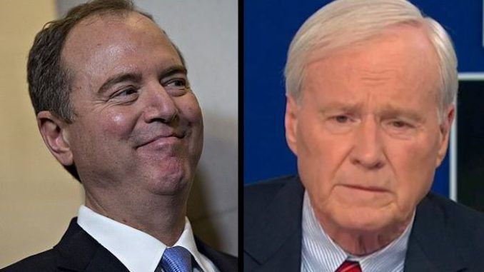 As establishment Democrats grow wary of a Sen. Bernie Sanders (I., Vt.) nomination, MSNBC anchor Chris Matthews floated the possibility of Rep. Adam Schiff (D., Calif.) emerging as the Democratic nominee during a contested convention.