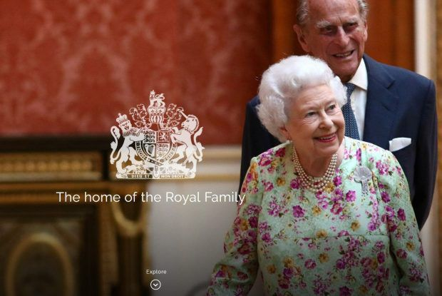The Queen and Prince Philip on the Royal Family's official website
