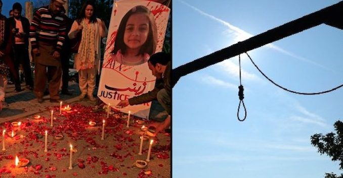 Lawmakers in Pakistan pass new law allowing the public hanging of child rapists and child killers