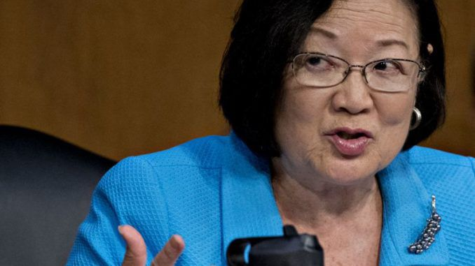 """President Trump must be convicted and removed from office even if doing so defies the law and the Constitution, according to Democrat Sen. Mazie Hirono (D-HI) who said said """"I don't care what kind of nice, little, legal, constitutional defenses that they came up with."""""""
