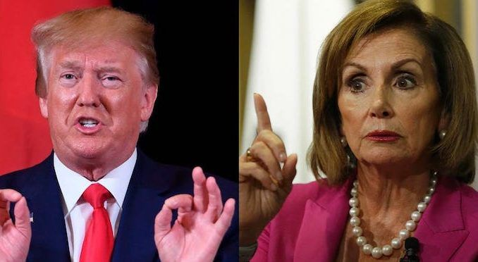 President Trump accuses Nancy Pelosi of creating Coronavirus panic for her own political advantage