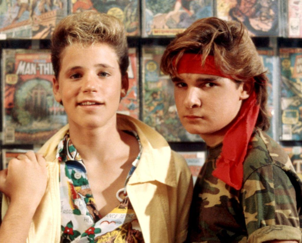 THE LOST BOYS: Corey Haim, Corey Feldman in 1987.