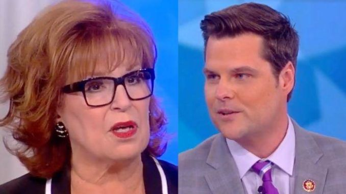 Rep. Matt Gaetz (R-FL) appeared on The View on Thursday and it is safe to say the Florida native bought the heat.