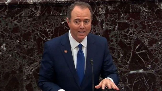 "Democrat impeachment manager Adam Schiff said Monday that if President Trump is not removed from office ""he could offer Alaska to the Russians in exchange for support in the next election."""