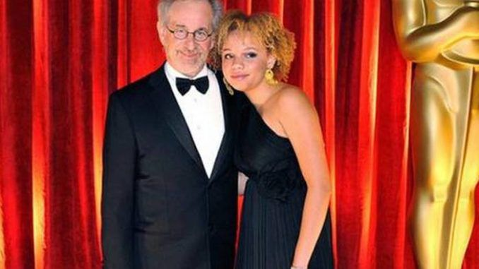 """Steven Spielberg's adopted daughter has launched a new career as an adult entertainer and says her father is """"intrigued"""" with her choice."""