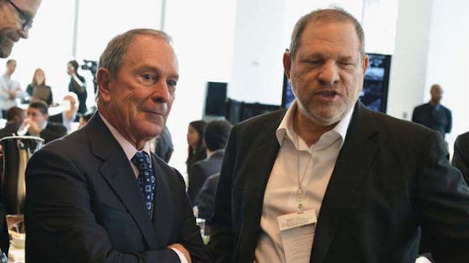 Video surfaces showing Harvey Weinstein cracking sex joke and thanking Michael Bloomberg for helping his movie company
