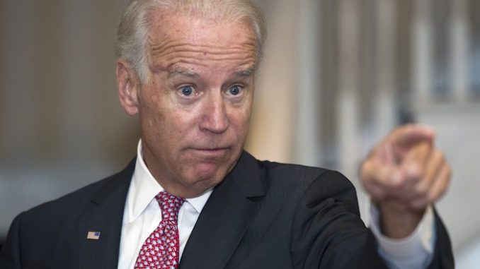 Joe Biden says all men and women are created equal by 'the thing'