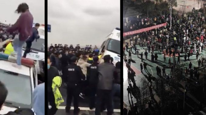 Thousands of Chinese citizens rise up at Coronavirus ground zero against gov't lockdown conditions