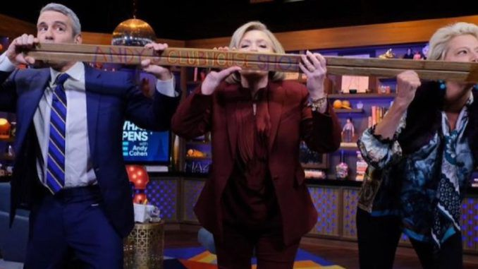 Hillary Clinton recently shared a shotski with Andy Cohen who now tests positive for coronavirus