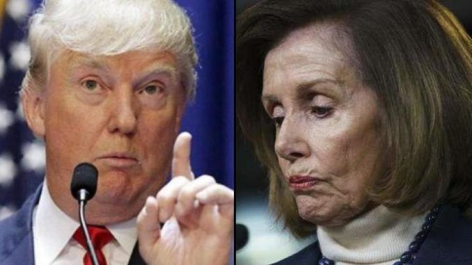 President Trump rejects Nancy Pelosi's St. Patricks day luncheon invitation, saying that she's torn this country apart