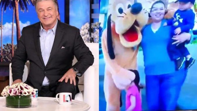 Alec Baldwin took over as host of The Ellen Show Tuesday and played a sexually suggestive clip of children groping adults and Disney mascots, leaving many viewers uncomfortable.