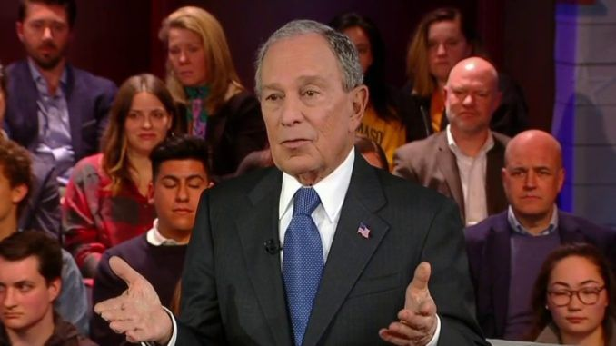 Billionaire Democrat presidential candidate Mike Bloomberg is campaigning on a platform of gun control for the common man while refusing to travel anywhere without armed security to protect himself.
