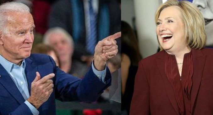 Hillary Clinton claims Biden is building the type of coalition she had