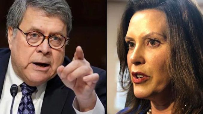 AG Bill Barr threatens legal action against Governors imposing unconstitutional lockdowns