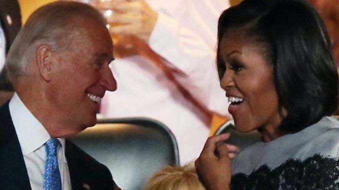 Joe Biden says he'd pick Michelle Obama to be his VP in a heart beat