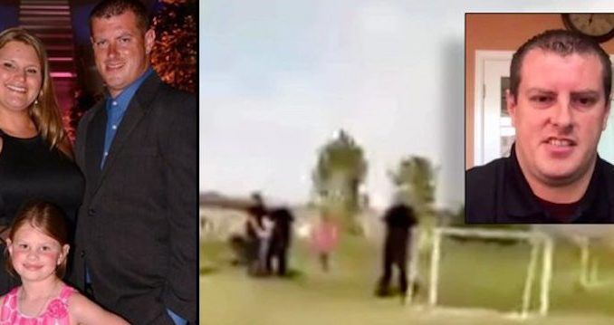 Police handcuff Colorado father in front of 6-year-old daughter for violating social distancing order at the park