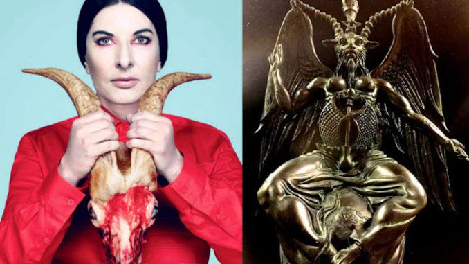 """Marina Abramovic, who enjoys posing with flayed goat heads and brewing blood, feces, semen and breast milk cocktails for political elites, is demanding """"conspiracy theorists"""" leave her alone and stop accusing her of Satanism."""