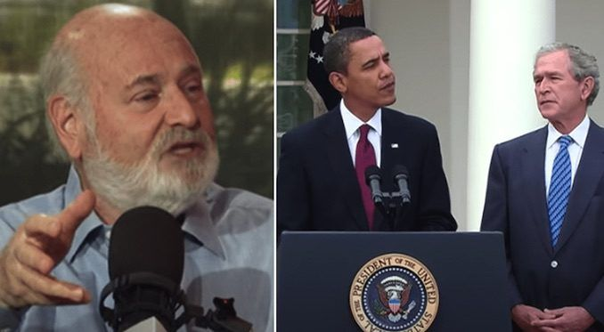 """Hollywood director Rob Reiner says President Donald Trump is """"mentally ill"""" and former president Barack Obama must intervene to """"stop this insanity"""" and """"save human lives."""""""