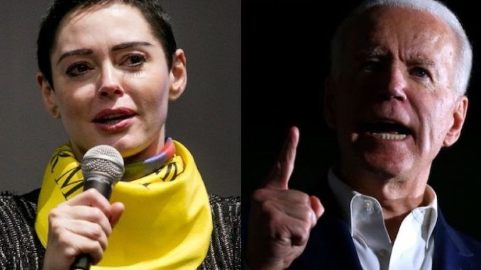"The mainstream media is a ""complicity machine"" that is in bed with the Democrat Party establishment and ""is hard at work covering up for Creepy Joe Biden,"" according to former Hollywood star Rose McGowan, who says ""the media in the USA is making me ill."""