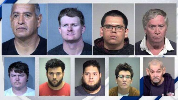 Operation Silent Predator sees 9 pedophiles arrested in massive Arizona bust