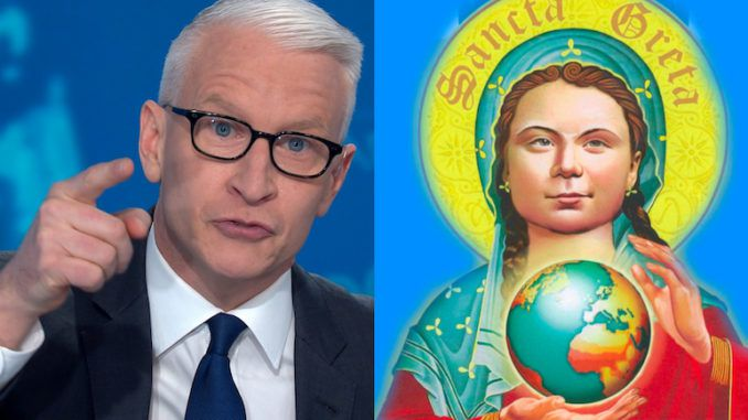 "CNN host Anderson Cooper reacted to criticism the network received for booking teenage climate activist Greta Thunberg for its coronavirus town hall by stating that attacking CNN and the teen climate activist is like ""shooting exotic animals."""