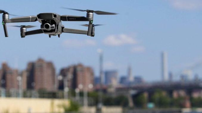 A city in New Jersey is using a Chinese company's drones to police American citizens who may not be respecting social distancing guidelines during the coronavirus lockdown.