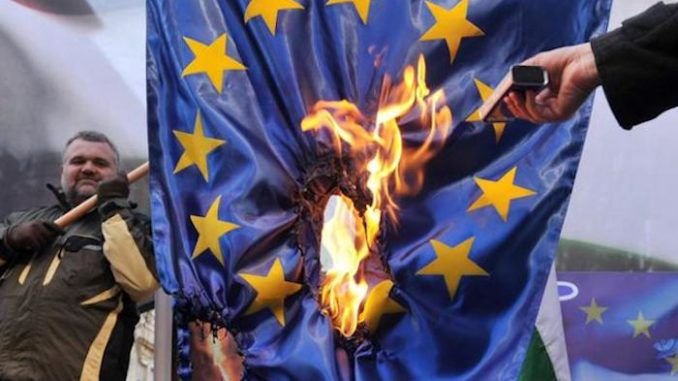 Germany declares burning EU flag a 'hate crime' punishable by up to three years in jail