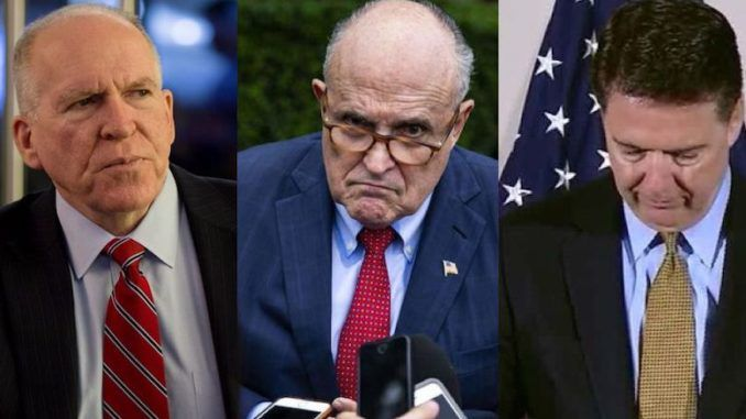 Rudy Giuliani says what Comey and Brennan attempted against Trump was as close to 'treason' as you can get