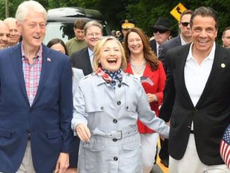 Maniacal Hillary Clinton pays tribute to Gov. Cuomo instead of fallen troops on memorial day