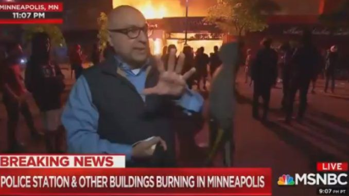 MSNBC reporter claims protesters are not unruly