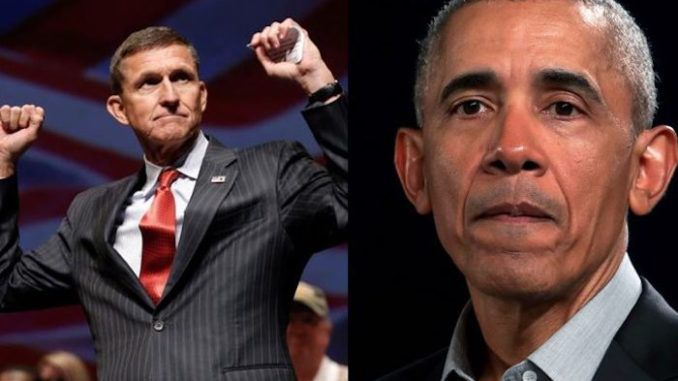 A newly released document indicates that former President Barack Obama pushed the FBI to go after Gen. Michael Flynn.