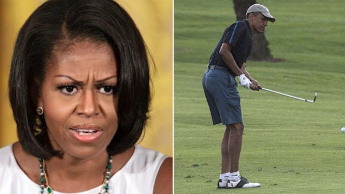 Barack Obama caught golfing after Michelle orders citizens to stay at home
