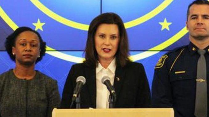 Governor Gretchen Whitmer boasts that police are monitoring the conversations of protestors