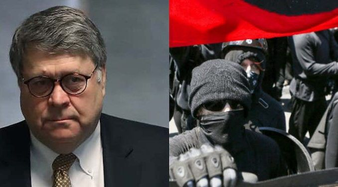 AG Barr creates task force to take down anti-government extremists such as Antifa