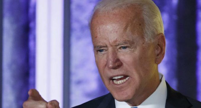 """Democrat presidential nominee Joe Biden said he is convinced President Trump is """"going to try and steal this election"""" before warning the military will escort President Donald Trump out of the White House if he loses the 2020 election and resists leaving."""