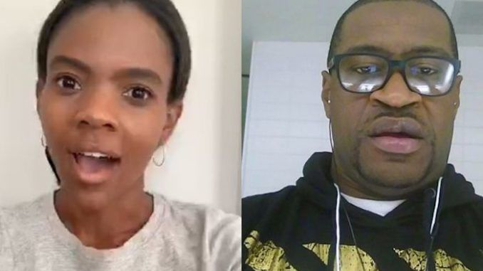 "Candace Owens has slammed the mainstream media for depicting George Floyd as a martyr and role model for black America, stating that he ""was an example of a violent criminal his entire life, up until the very last moment"" and he was ""not an amazing person."""