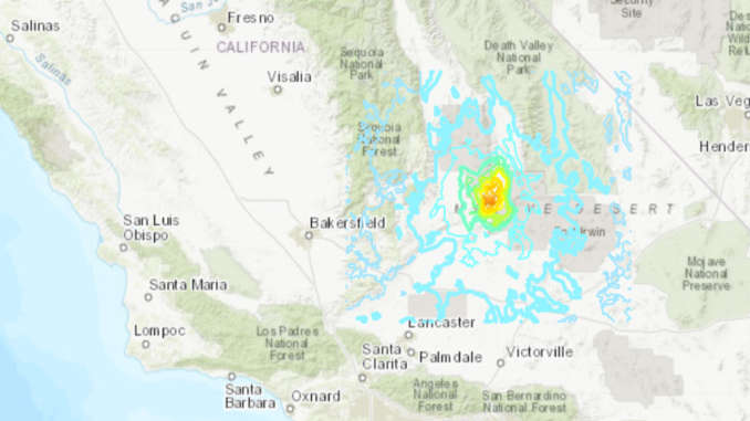 Califronia earthquake