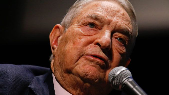 George Soros' Twitter profile is receiving half a million negative mentions per day according to the Anti-Defamation League.